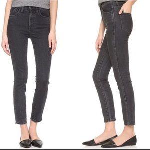☀️Madewell High-Riser Skinny Jeans Charcoal Grey
